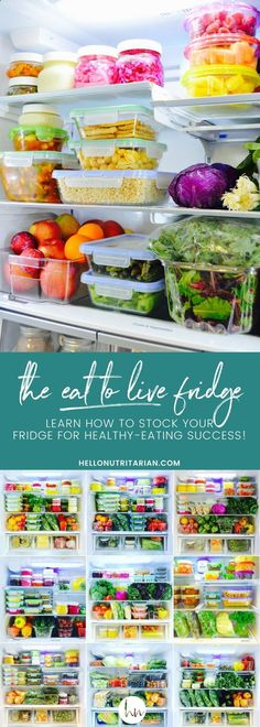Learn how to organize your fridge for Dr. Fuhrmans nutritarian eat to live plan! Also, perfect if youre starting any plant-based, whole food healthy eating plan! Get free printable shopping lists too!