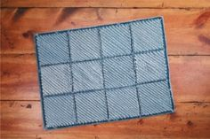 Blue Jean Chenille Rug | Country Woman Crafts I Décor & Accessories — Country Woman Magazine