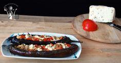 Melanzane ripiene di pomodori e formaggio