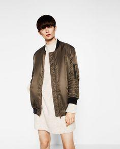 Image 2 of OVERSIZED BOMBER JACKET from Zara