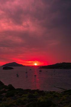 Cape Sounio Poseidon Temple Beautiful Sunset, Sunsets, Temple, Cape, Greece, Celestial, Country, Outdoor, Mantle