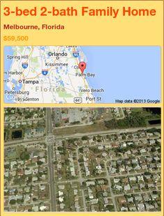 3-bed 2-bath Family Home in Melbourne, Florida ►$59,500 #PropertyForSale #RealEstate #Florida http://florida-magic.com/properties/91576-family-home-for-sale-in-melbourne-florida-with-3-bedroom-2-bathroom