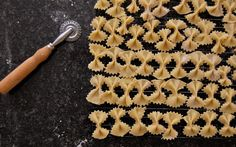 Handmade Farfalle with Broccoli Rabe