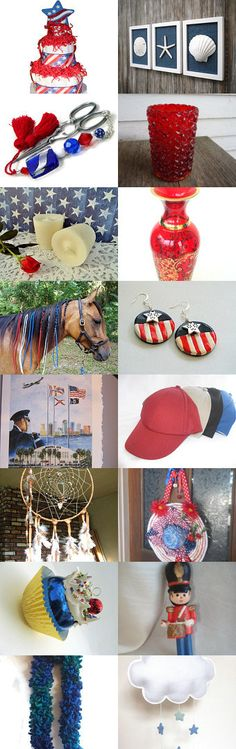 Red White And Blue by SiriusFun on Etsy--Pinned with TreasuryPin.com