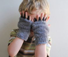 wolf gloves with claws