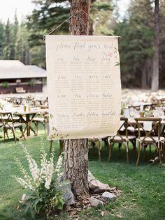Calligraphy Table Plan