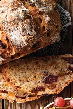 No-Knead Harvest Bread Recipe tried this as cinnamon raisin bread and baked at used parchment to protect pan and covered with foil. didn't use dutch oven recipes artisan king arthur No-Knead Harvest Bread Walnut Bread Recipe, Raisin Nut Bread Recipe, Harvest Bread, Cinnamon Raisin Bread, Banana Bread, No Knead Bread, King Arthur Flour, Easy Bread, Bread Rolls