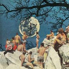 by ben giles. Looks so much like Beth Hoeckel's collages... http://bethhoeckel.com/COLLAGE.htm  #art #collage #moon