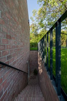 Minimalist hillside home in Hungary: Long Brick House