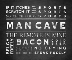 Ultimate Man Cave Art On Canvas