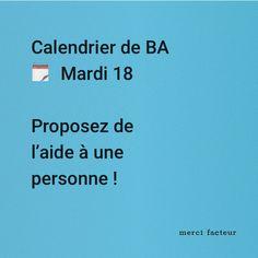 Vous avez pensé à qui ?  #MardiConseil Greeting Cards, Advent Calendar, Thinking About You