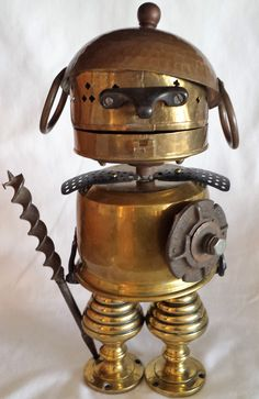 Alexander the Great - Found object assemblage robot