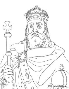 Charlemagne Coloring page.  All ages. (Other historical figures available at the website).
