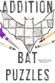 Make learning about bats fun with these ADDITION bat activities for kids. Click through to make these a part of your math centers, stations, review, enrichment, or early Bat Activities For Kids, Math Activities, 3rd Grade Classroom, 1st Grade Math, Future Classroom, Practice Math Problems, Halloween Math, Halloween Ideas, Critical Thinking Skills