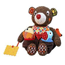 Woodours Baby Rattle and Teether - Bear