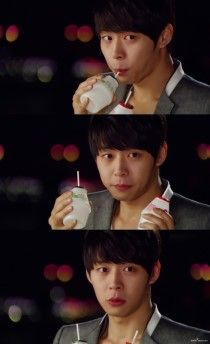 Yoochun drinks banana milk :) Can I just say how adorable he looks in this?