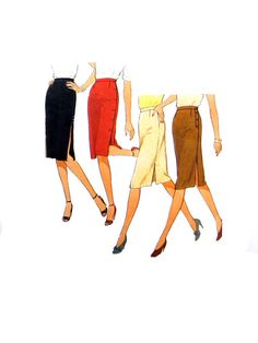 1982 Style 3010 Misses' Set of Slim Fit Skirts by patternscentral
