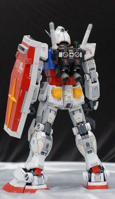 PG Gundam - Customized Build Modeled by ghost Battle Robots, Gundam Mobile Suit, Gundam Custom Build, Sci Fi Armor, Man Projects, Gundam Art, Gunpla Custom, Custom Action Figures, Gundam Model