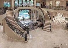 Mansion houses, mansion bedroom, dream mansion, luxury homes dream Dream Home Design, My Dream Home, Home Interior Design, Luxury Interior, Kitchen Interior, Interior Decorating, Modern Mansion Interior, Kitchen Decor, Dream House Interior