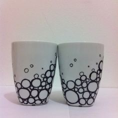 Tazaspintadasrayasypuntos Crafting Pinterest Sharpie - Diy creative painted mug