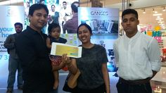 A customer receiving gift vouchers for telling us about her unique expectations of a home.