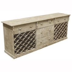 french wine cabinet for a summer buffet or bar