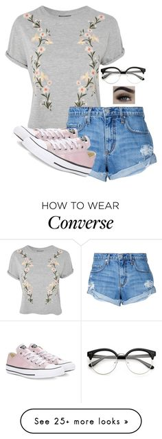 """Grow"" by river-rain-water on Polyvore featuring Topshop, Nobody Denim and Converse"