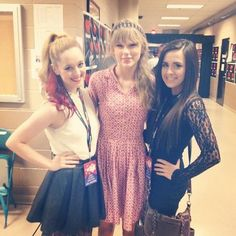 "almost 3 years later, and we got to meet Taylor Swift... AGAIN! :') she's so nice. and ya know, kind of freaking out because she sang a part of ""Bad for Me"" to us..."