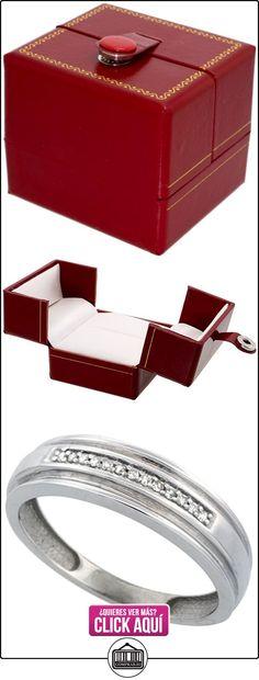 Revoni - Juego de alianzas de oro blanco con diamante  ✿ Joyas para hombres especiales - lujo ✿ ▬► Ver oferta: http://comprar.io/goto/B005M2RJA0
