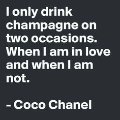 Champagne. cheers to love!