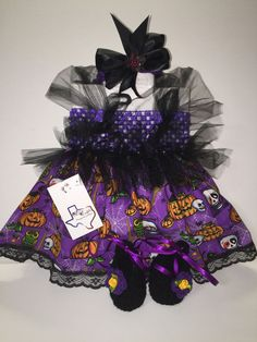 Mic Crafts Handmade Crochet Baby Costume Jack O'Lantern Skulls Halloween 3pc | eBay