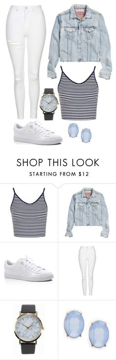 """Untitled #10576"" by beatrizibelo ❤ liked on Polyvore featuring Topshop, H&M, Puma, NLY Accessories and Cara"