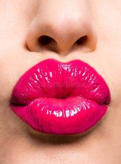 Beautiful red lips giving kiss. Closeup photo of a beautiful red lips giving kis , Pop Art Lips, Lip Art, Rubin Rose, Perfect Red Lips, Candy Lips, Hot Pink Lips, Cherry Lips, Love Lips, Red Lip Makeup