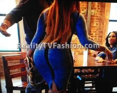 Jhonni Blaze's Open Back Blue Jean Dress #LHHNY