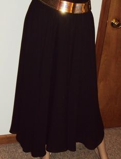 Black Chiffon Skirt Sheer Vintage Andrea by outoftheattic2u