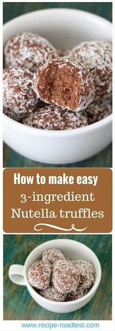 Craving something sweet? These 3-ingredient Nutella truffles are made from things you probably have down the back of the cupboard, and only take 10 minutes! (Dessert Recipes Christmas)