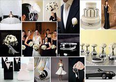 Black & White Tuxedo Wedding Theme
