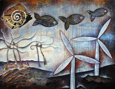 """""""L'or du temps"""" Peinture de l'artiste française Marie Bazin -2010-"""