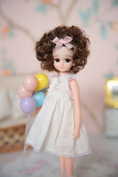 Licca cutie curls party balloon doll .。.:*❤