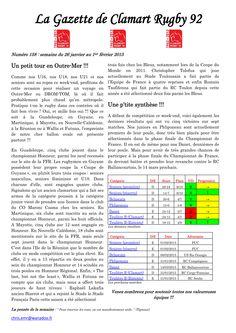 Gazette - 2014-2015 - Fédérale 2 - N° 158 - Page 1