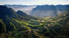 High on the 'must-do' list once we are able to freely move about again is surely a leisurely drive over the scenic Helshoogte Pass to the fertile. Mountain Pass, Green Mountain, Desktop Pictures, Aerial View, South Africa, Nature Photography, Beautiful Places, Humor, Mountains