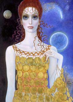 """Between Two Worlds"" ~ by artist Margaret Keane"