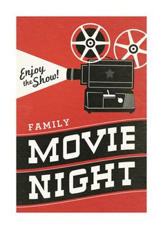Family Movie Night by Jill Means for Minted