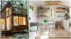 Perfect tiny cabin with bright interior