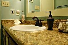 granite bath countertop with drop in sink - Google Search