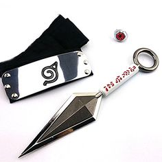 Naruto Uchina Itachi Cosplay Head Band ring Kunai Cosplay Accessories Set -- Continue to the product at the image link.