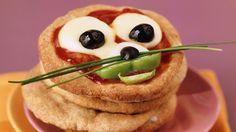 Lustige Pizza für Kinder