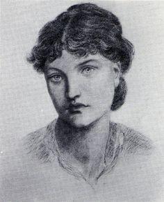 Might be Jane Morris or Alexa Wilding by Dante Gabriel Rossetti