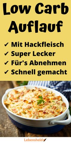 Low carb casserole with minced meat – Bavece Low Calorie Fast Food, Low Carb Keto, Keto Crockpot Recipes, Low Carb Chicken Recipes, Easy Healthy Dinners, Easy Healthy Recipes, Pancake Healthy, Law Carb, Laura Lee