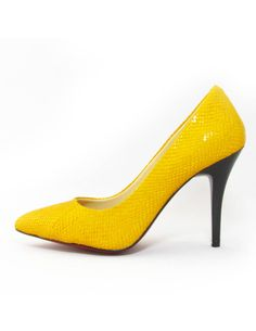 yellow heels <3  http://www.clubcouture.cc/canary-leather-pumps